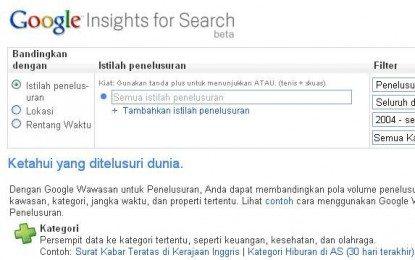 Google Insight: Menelusuri Popularitas Keyword Hanya Dengan Sentuhan Jari