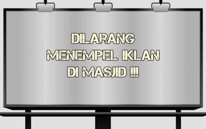 Hukum Nempel Iklan Di Masjid