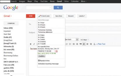 Menjadwalkan Pengiriman E-mail Dengan Boomerang For Gmail