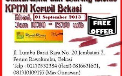 Silaturahmi Dan Sharing Kpmi Korwil Bekasi 1 September 2013