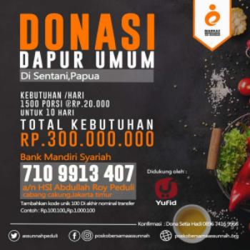 donasi korban banjir sentani papua